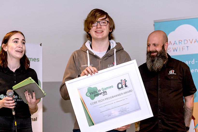 John Green from the University of Central Lancashire, 2019 Winner of the Core Tech Programmer Award sponsored by d3t