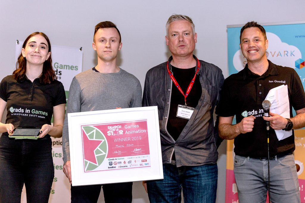 Maciej Osuch, 2019 Winner Sumo Digital Rising Star Games Animation
