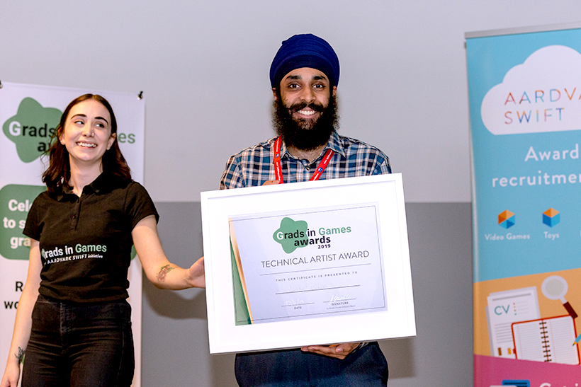 Grads In Games Technical Artist Award 2019