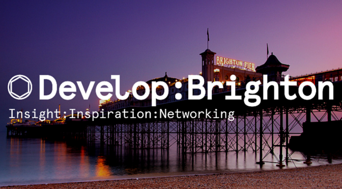 Join us at Develop: Brighton 2016