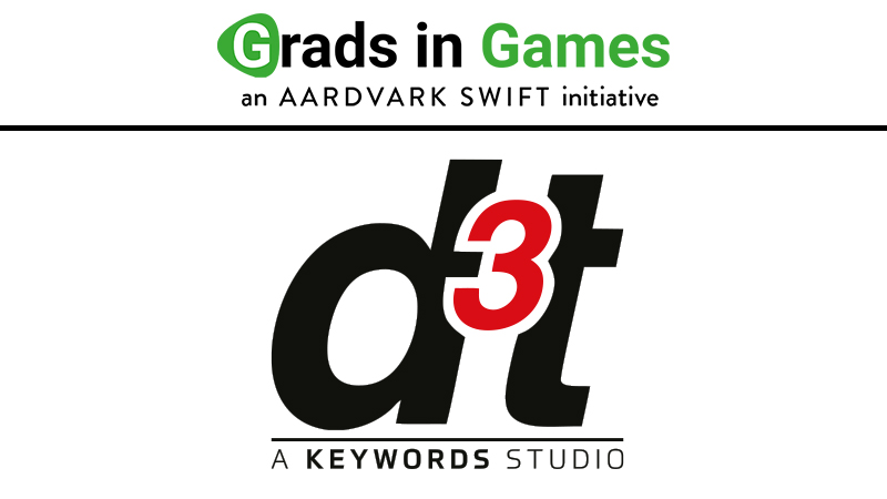 Grads In Games 2020/21 Headline Partner d3t