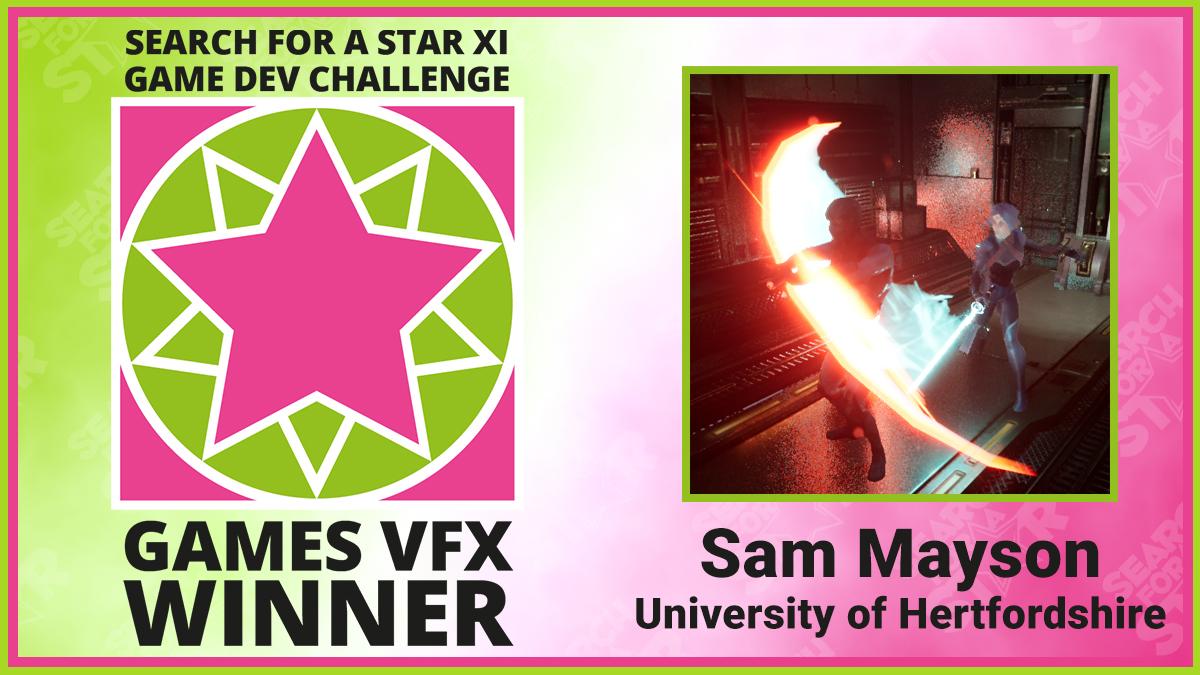 Sam Mayson, Search For A Star Games VFX Winner 2021