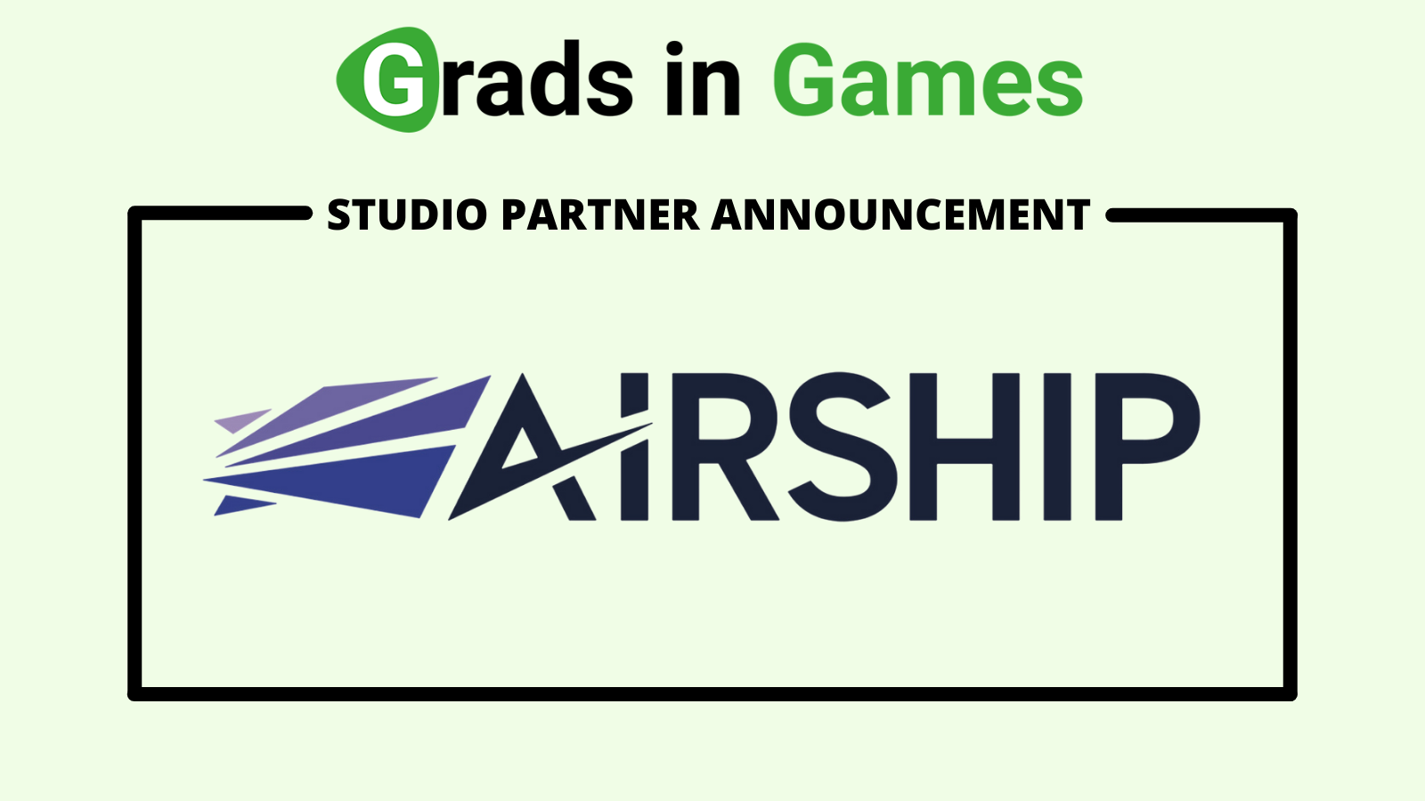 Grads In Games welcomes back Airship Images as studio partner for 2021/22